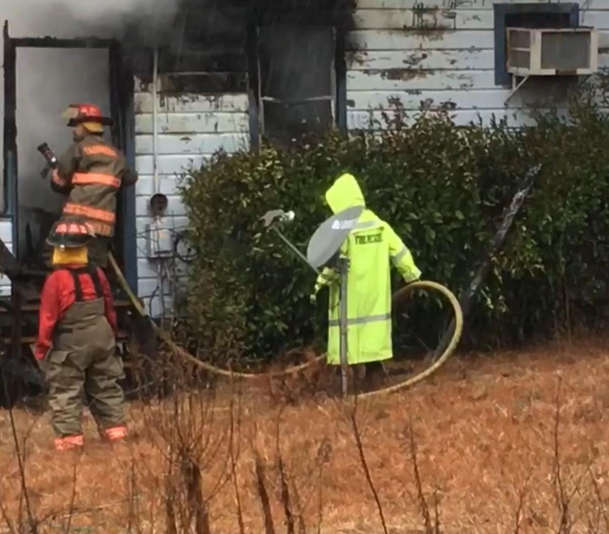 Fire destroys home in Six Mile Community