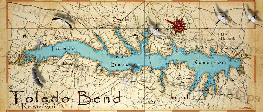 Toledo Bend Map
