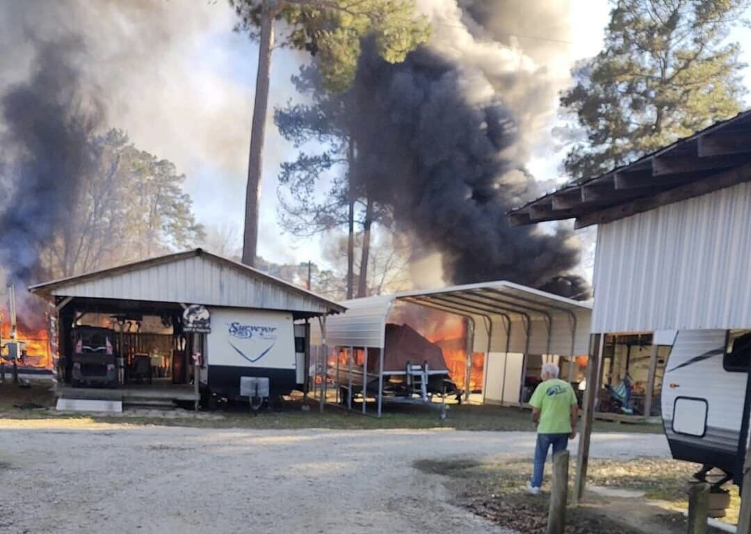 Fire destroys RVs, photos submitted