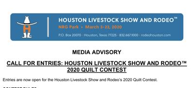 2020 Quilt Contest, Houston Livestock Show and Rodeo