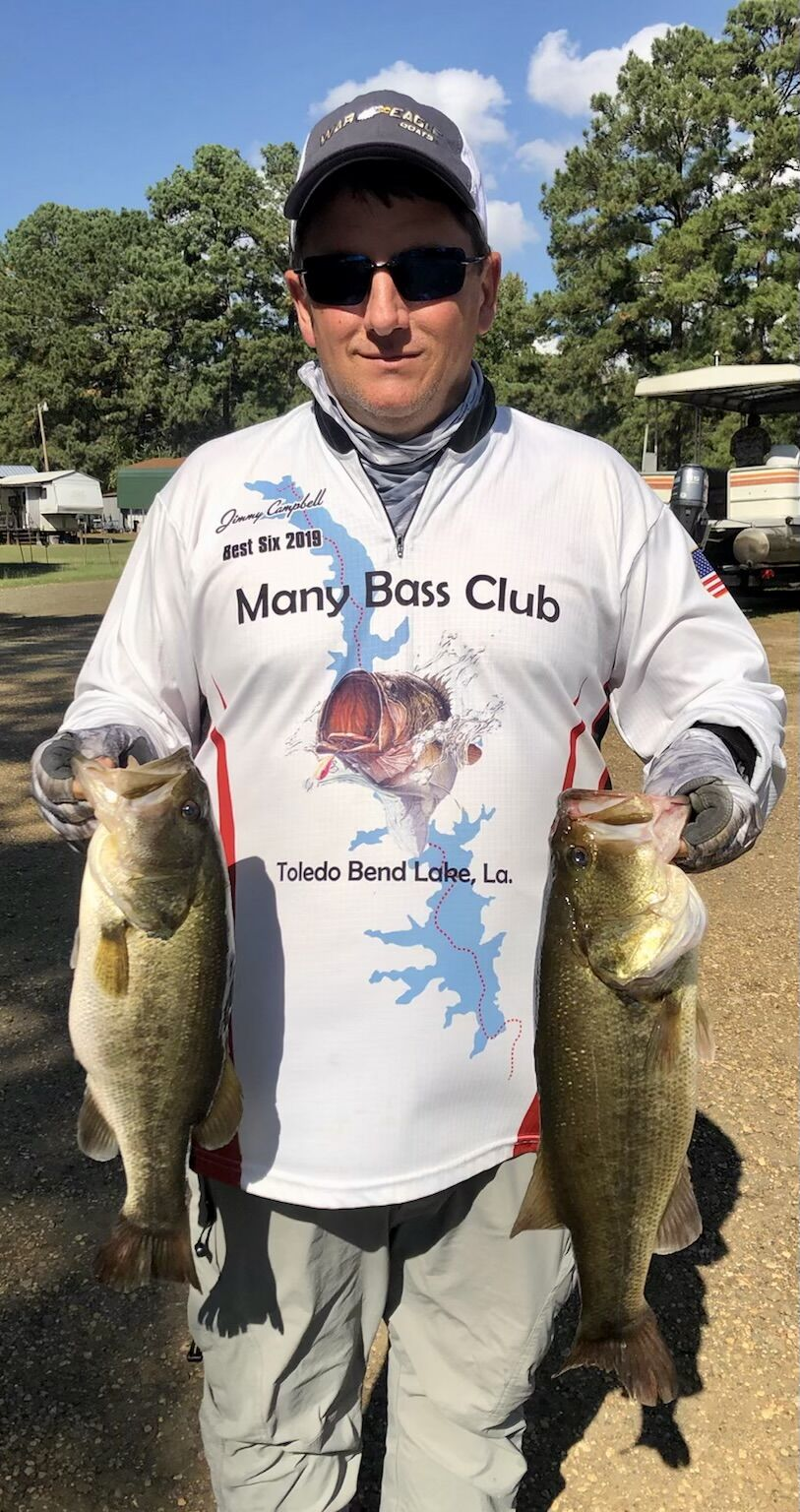 Gary Moore came in 2nd place with 12.92 pounds