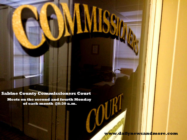Sabine County Commissioners Court, meets Monday