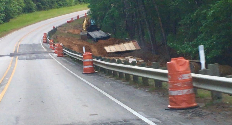 Roadwork has begun on bridge after March flooding, motorist use caution