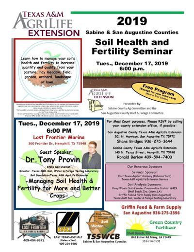 Sabine County Ag Agent Soil