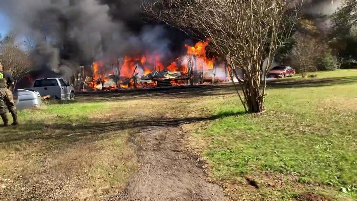 Home burns on McMahan Chapel Road