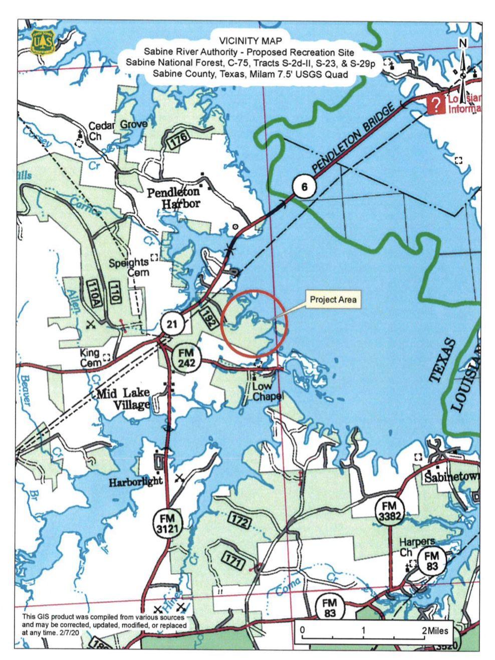 Proposed: El Camino Real Recreation Site Map
