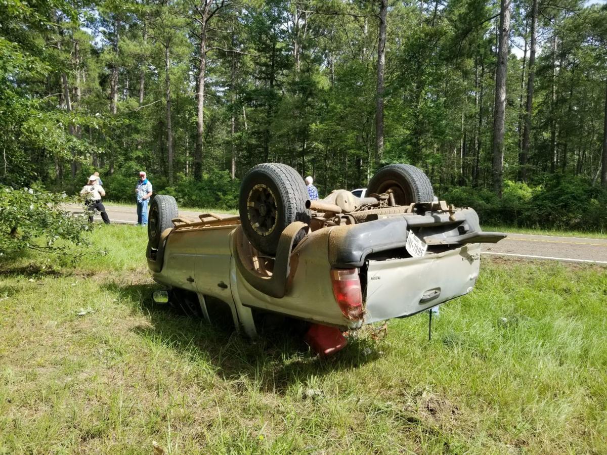 Man crashes truck after falling asleep driving