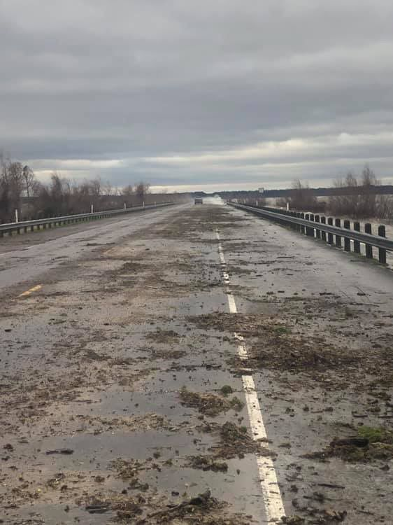 SH 147 Bridge, photo used to show flooding earlier this year