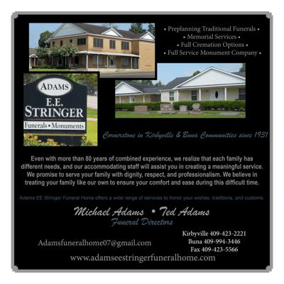 Adams EE Stringer Funeral Home
