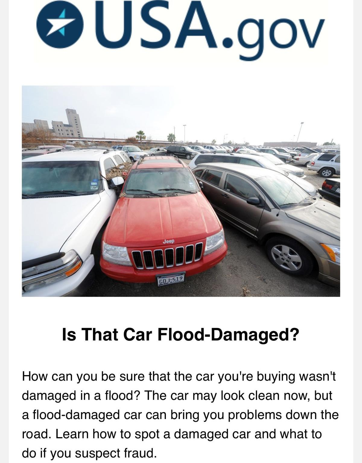 Buyer beware: Flood-damaged cars for sale   Business ...