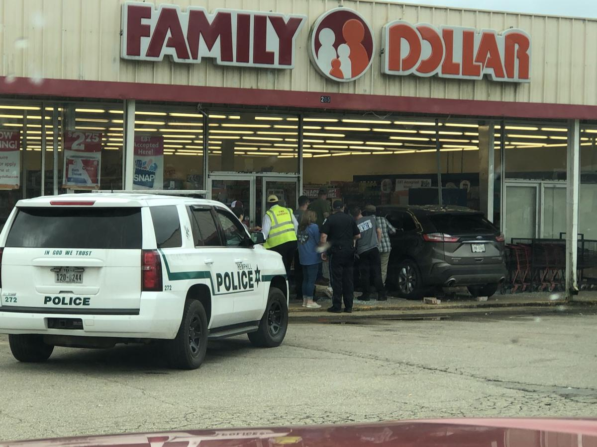 SUV crashes into Hemphill Family Dollar