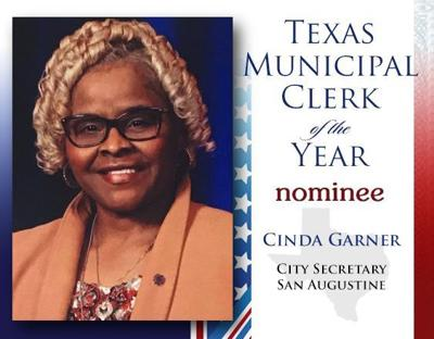 San Augustine City Secretary nominated 2019 Municipal Clerk of the Year