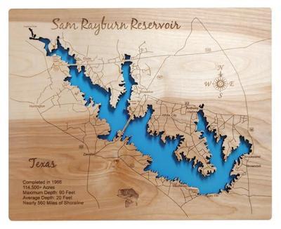 Lake Sam Rayburn Map