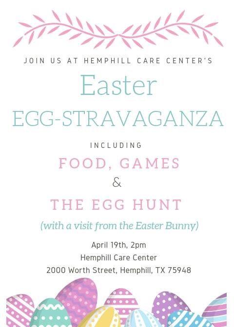 Hemphill Care Center Community Easter Egg Hunt