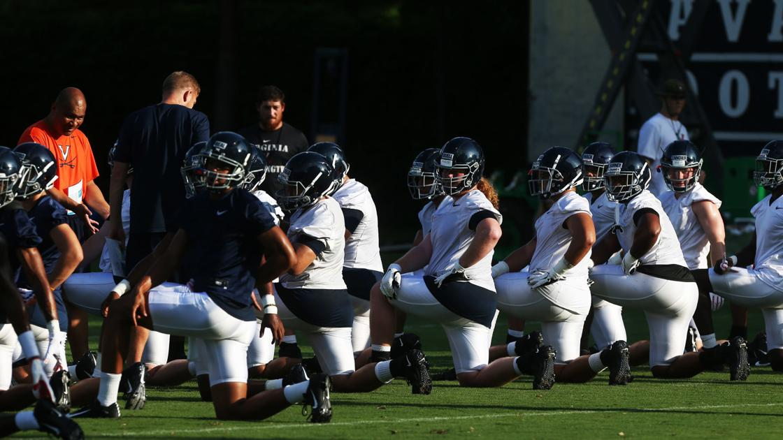 Photos: Virginia football team opens fall camp at Lambeth Field