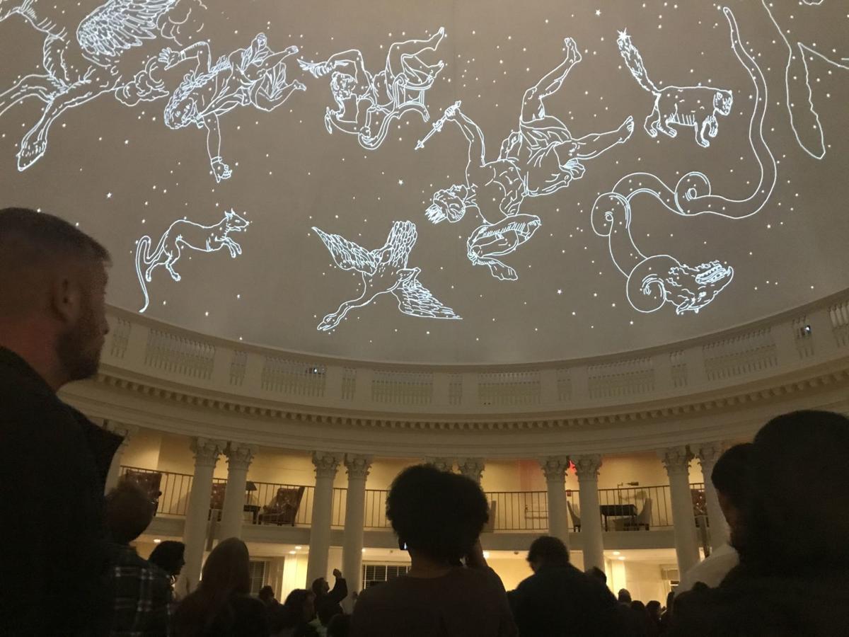Rotunda planetarium display