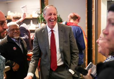 Jim Hingeley victory party
