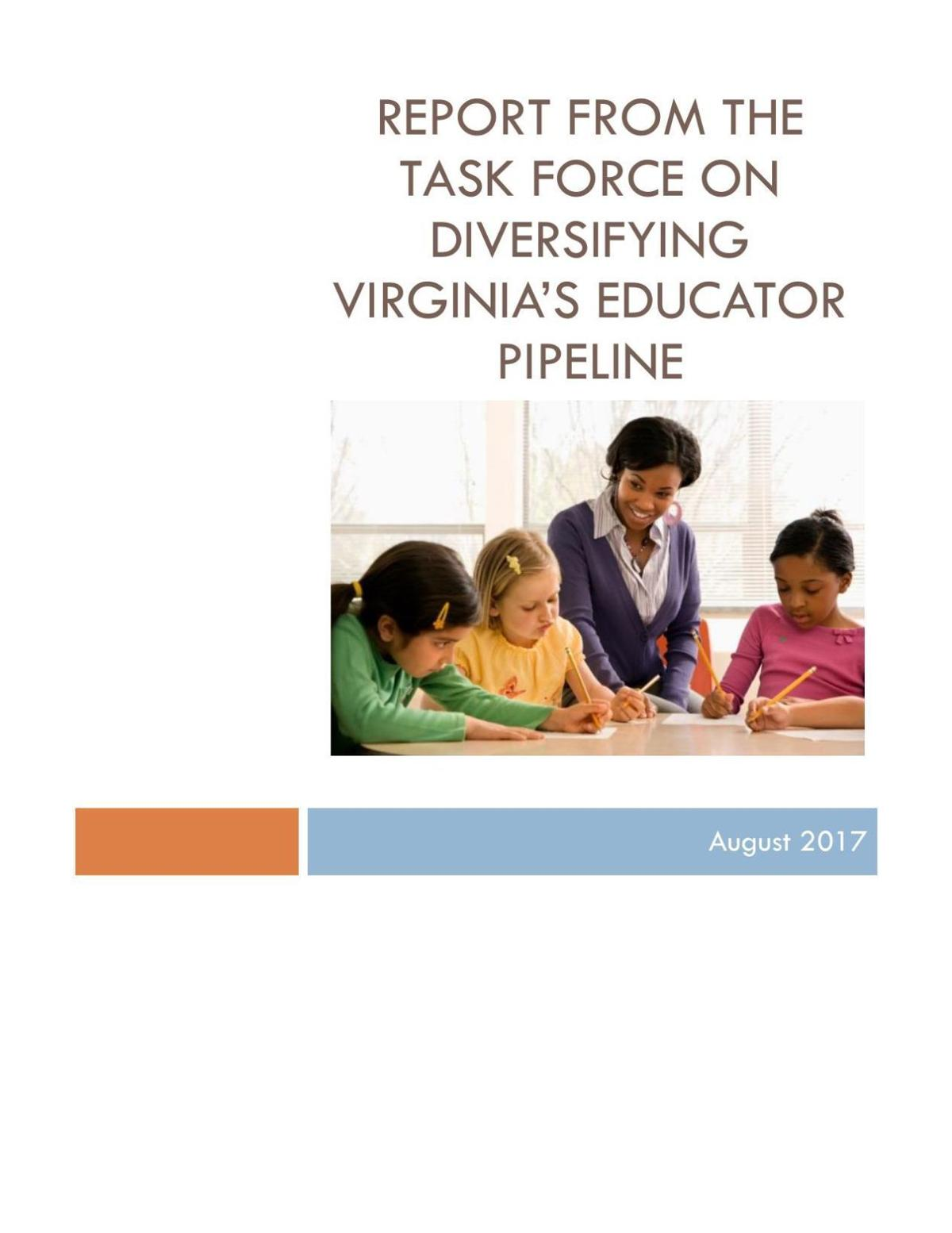 Report from the Task Force on Diversifying Virginia's Educator Pipeline