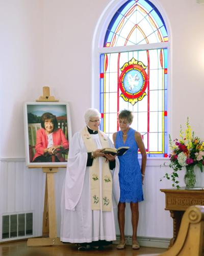 Jeraldine Morris Tata honored with a stained glass window