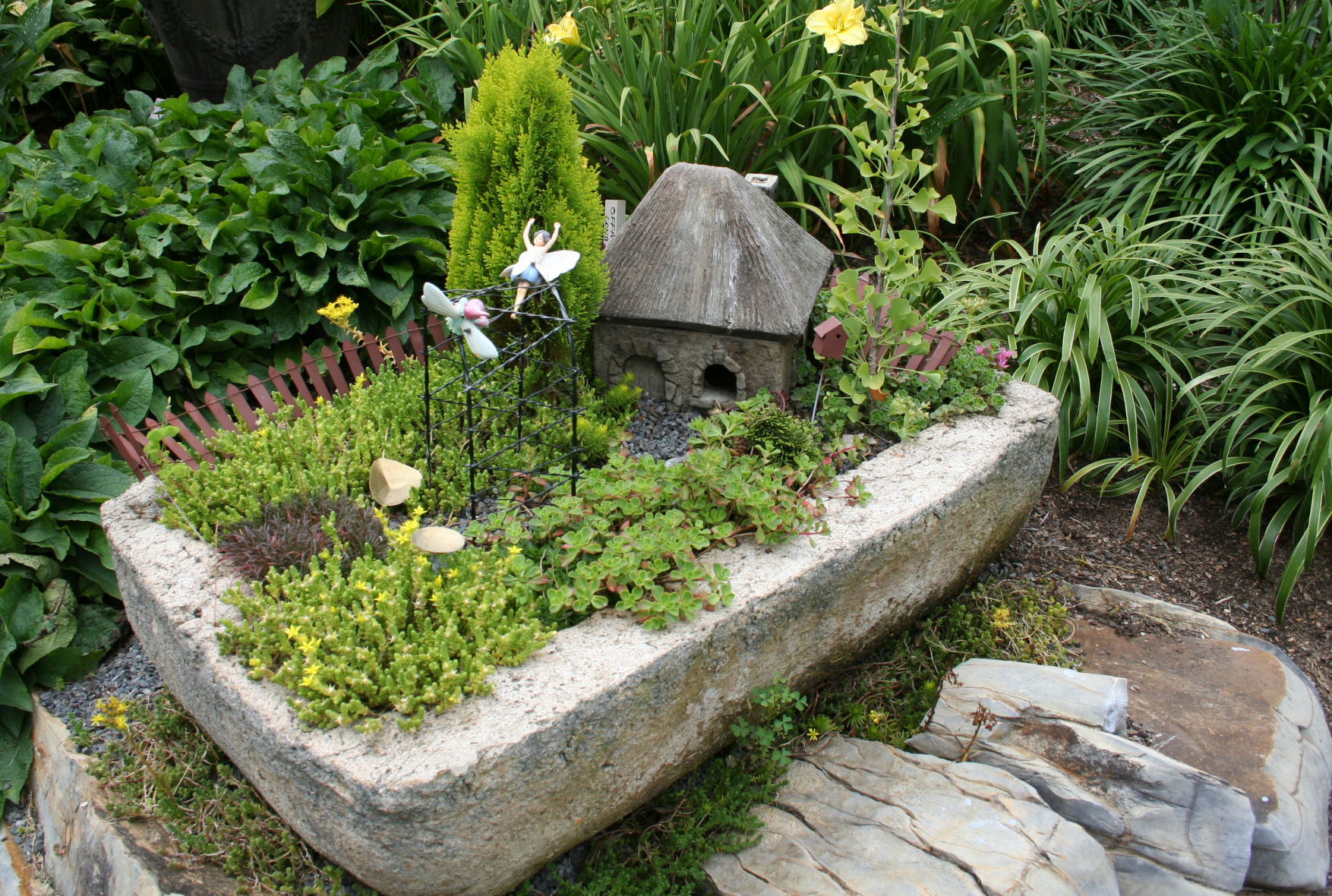 Fairy House Container Garden