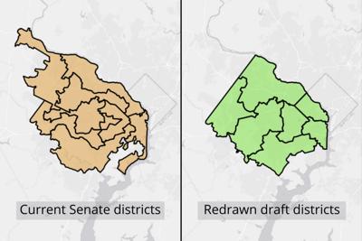 Draft redistricting map