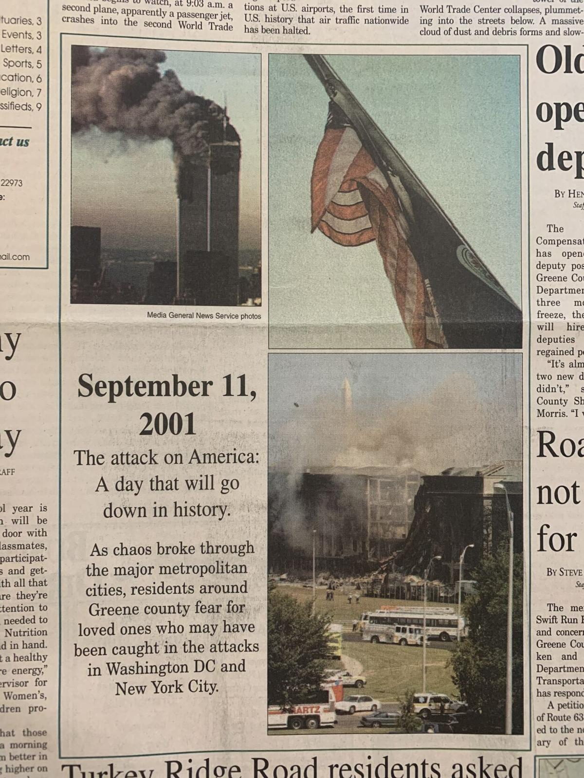 9/13/2001 front page
