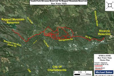 Rivanna water pipeline map