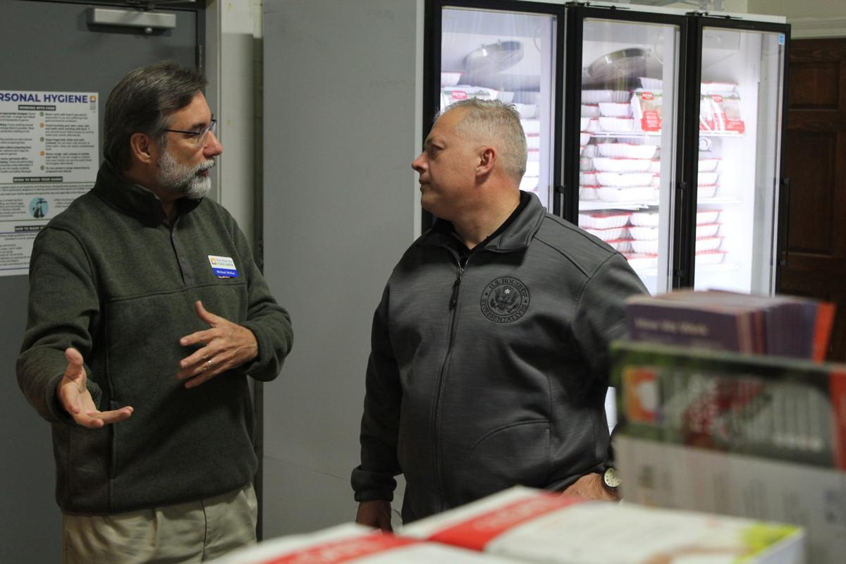 Riggleman visits Blue Ridge Area Food Bank