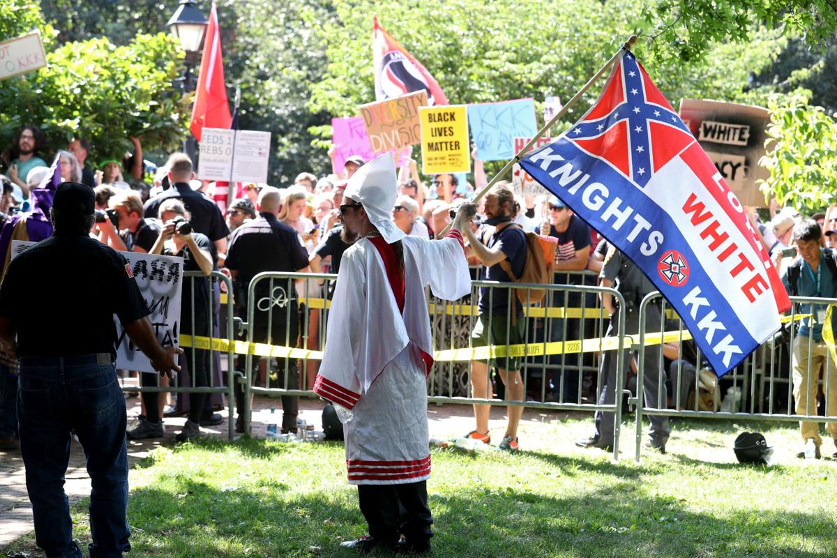KKK rally in Charlottesville eclipsed by protests | Local News ...