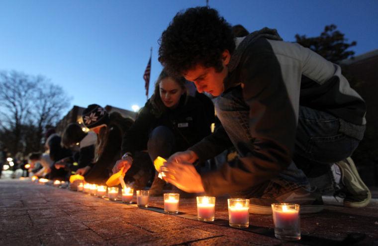 Downtown vigil