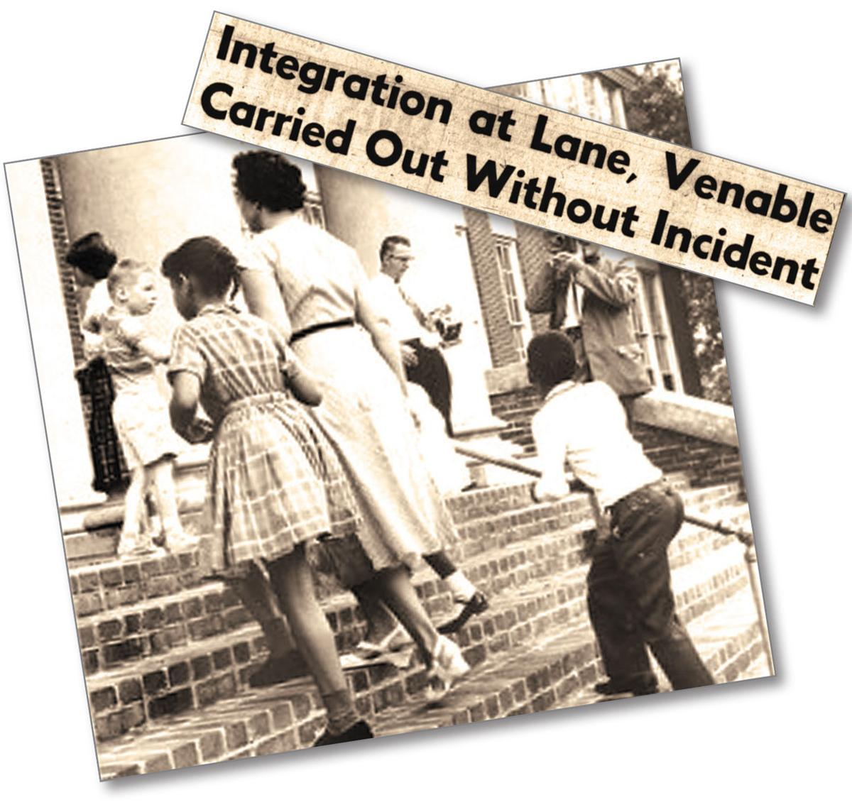 Charlottesville schools integrated this day in 1959