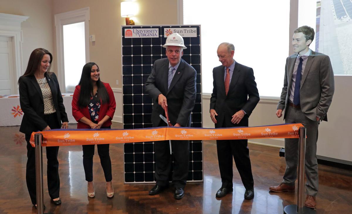Mcauliffe Celebrates Uva Solar Project And Faces