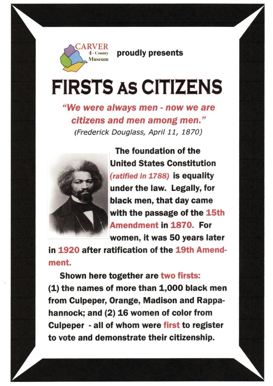 Firsts As Citizens introductory poster