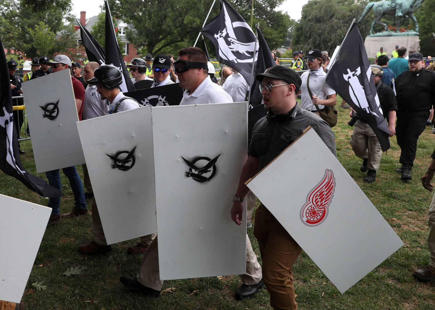Detroit Red Wings denounce use of their logo at white supremacist demonstration