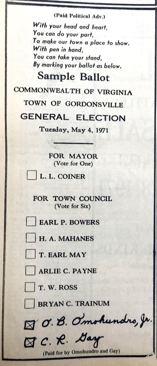 IHBNR: April 21, 1971_Gville write-in ballot ad
