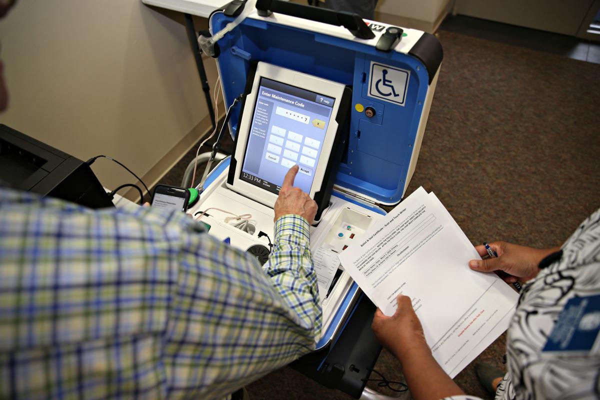 Absentee voting machine