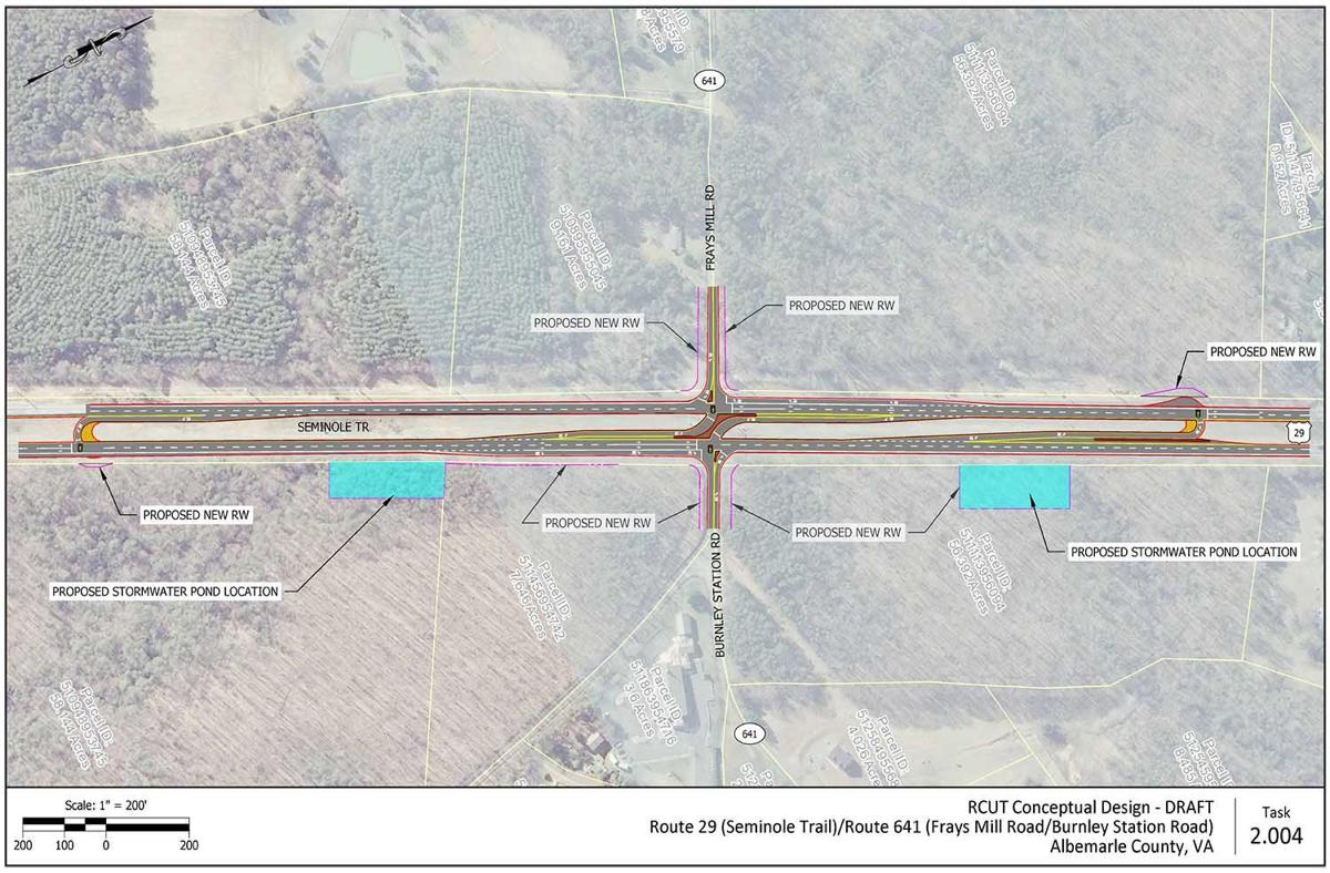 US 29/ Frays Mill/ Burnley Station intersection proposal