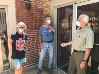 Allan receives community service for removing enslaved people block marker