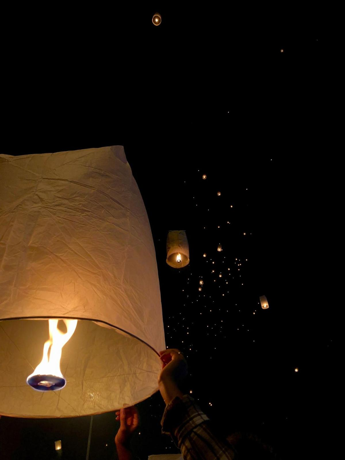 This is also in Thailand when we let go of lanterns in the
