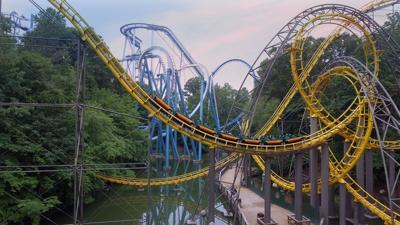Roller coaster at Busch Gardens Williamsburg