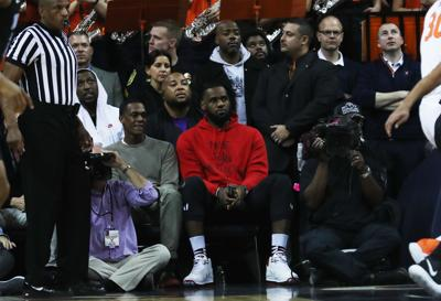 separation shoes a4bf4 fa31e LeBron James attends Virginia-Duke basketball game at John Paul ...