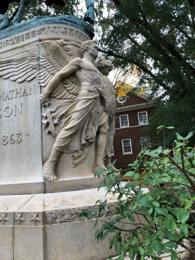 Jackson Statue damage