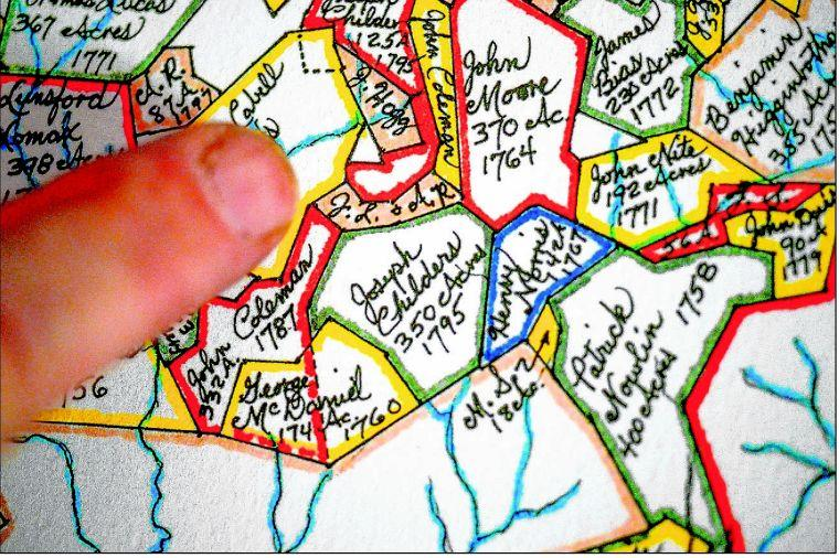 Hand-drawn maps illustrate colonial Amherst, Nelson | Mapping ... on