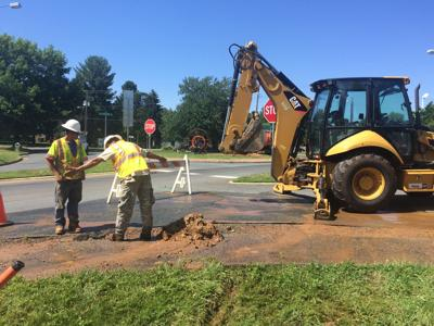 Broadband installers hit a waterline in Gordonsville
