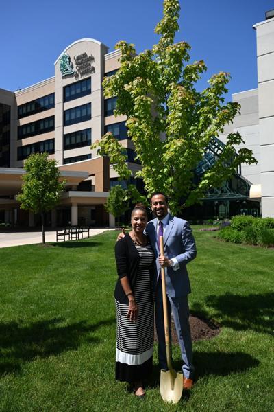 Logoldia Payne and Pat Basu, MD, MBA, President and Chief E