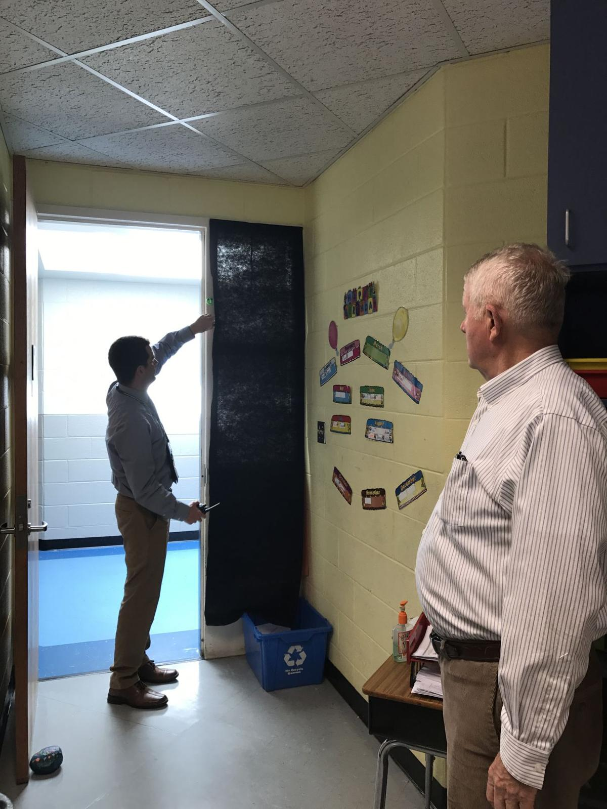 Donations of greenbacks allows schools to black out windows
