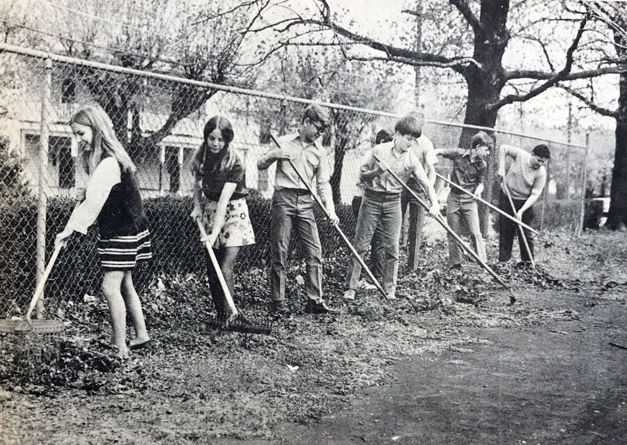 IHBNR-May 6, 1971 (OIS students clean up)