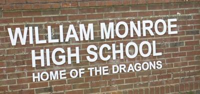 WILLIAM MONROE HIGH SCHOOL sign generic WMHS (copy)
