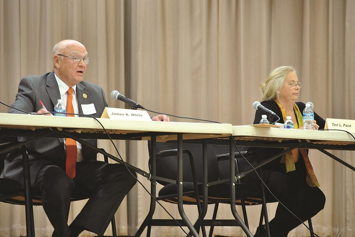 White, Pace face off at forum