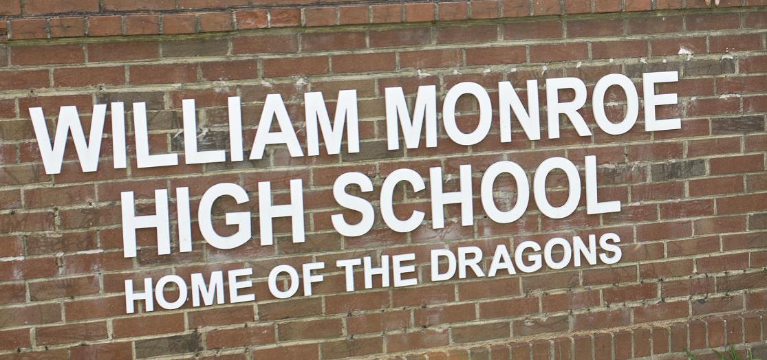 WILLIAM MONROE HIGH SCHOOL sign generic WMHS